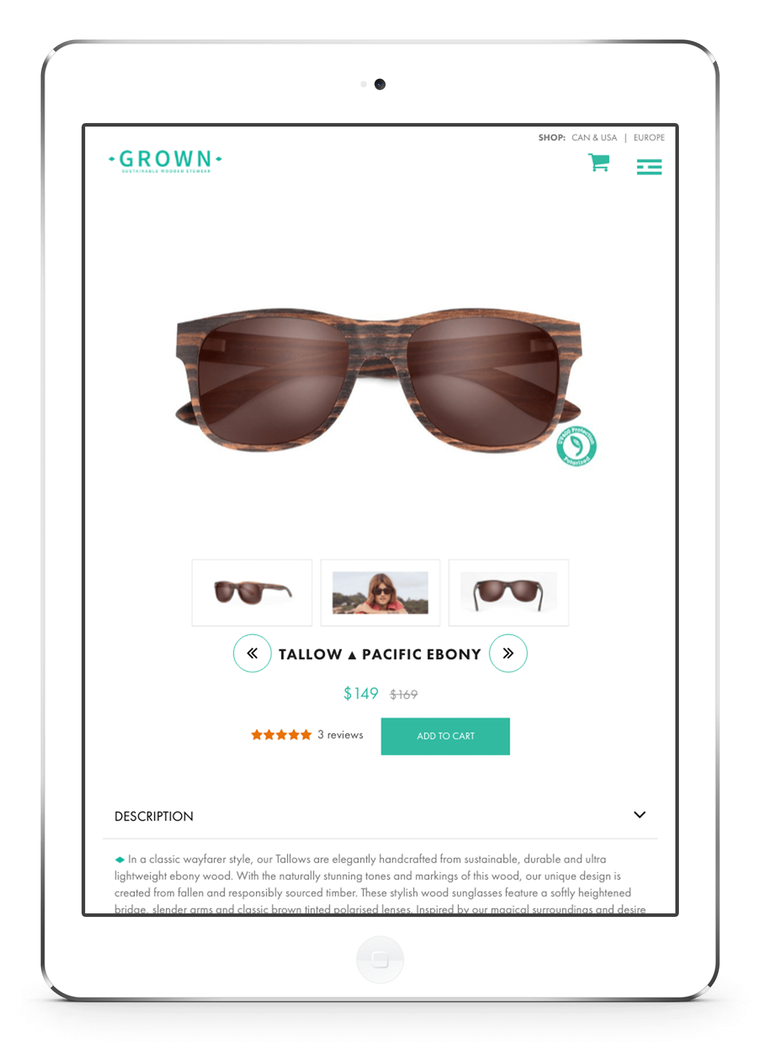 Our Solution - Grown Eyewear Shopify Website